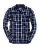 Superdry Double Cloth Checked Shirt Navy