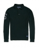 Superdry Academy Rugby Long Sleeve Polo Shirt  Green