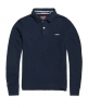Superdry Classic Long Sleeve Pique Polo Shirt Navy