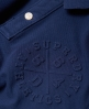 Superdry Classic Embossed Pique Polo Shirt Blue
