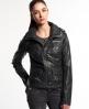 Superdry Faux Leather Roadie Jacket Black