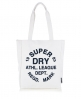 Superdry Athletic League Canvas Tote Bag Cream