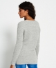 Superdry Austin Cotton Rib Knit Jumper Light Grey