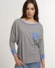 Superdry Contrast Ringer T-shirt Grey