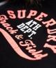 Superdry Track & Field Super Track Zip Hoodie Black