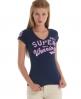 Superdry sport pitch vee t-shirt Blue