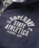 Superdry State Trackster Hoodie Blue