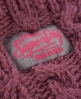 Superdry Nep Cable Snood Pink