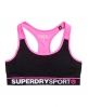 Superdry Gym Panel Sport-BH Schwarz
