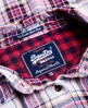 Superdry Double Cloth Karohemd Pink