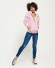Superdry Orange Label All Over Print Zip hoodie Pink