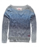 Superdry Ombre Slouch Cable Crew Blue