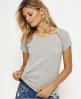 Superdry T-shirt en filet à manches raglan Essential Gris