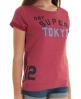 Superdry Super Tokyo Slouch Crew Red
