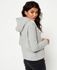 Superdry Osaka 6 Crop Hoodie Light Grey