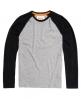 Superdry Orange Label Grit Baseball T-shirt Grey