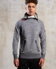 Superdry Gym Tech hættetrøje med 2 lynlåse  Lysegrå
