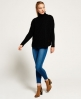 Superdry Cable Cape Pulli Schwarz