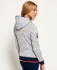 Superdry Storm Cross Neck Hoodie Grey