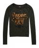 Superdry Slubby Strickshirt mit Grafik  Khaki/olive