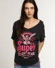 Superdry Slouch Vee T-Shirt Black
