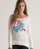Superdry Burnout Angels T-shirt Cream