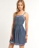 Superdry 50s Panel Quilt Dress Blue