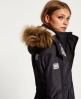Superdry Hooded Fur Sherpa Wind Attacker Jacket Grey