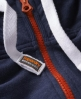 Superdry High Neck Zip Hoodie Blue