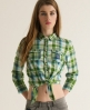 Superdry Lumberjack Skater Shirt Green