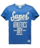 Superdry Swoosh Worn Wash T-shirt Blue