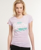Superdry Vintage Glitter T-shirt Purple