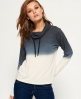 Superdry Nordic Ombre Funnel Hoodie  Cream