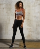 Superdry Gym Panel Sports Bra Dark Grey
