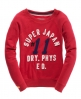 Superdry Applique Boatneck Crew Red