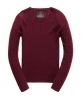 Superdry Luxe Mini Cable Jumper Purple