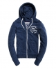 Superdry Sweat zippé à capuche Athletic League Bleu Marine