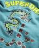 Superdry Flame Dragon Zip Hoodie Blue