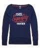 Superdry Ticket Burnout T-shirt Navy