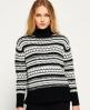 Superdry Nordic Pattern Knit Jumper  Black