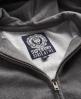 Superdry Premium Nep Zip Hoodie Dark Grey