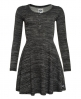Superdry Essential Twist Yarn Skater-Kleid Grau