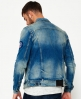 Superdry Rogue Patch Trucker Jeansjacke Blau