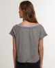 Superdry Ringer Cropped T-shirt Dark Grey