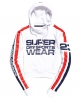 Superdry Sweat à capuche court Sportswear Blanc
