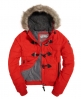 Superdry Microfibre Toggle Puffle Jacket Red