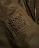 Superdry Microfibre Fur Hooded Windbomber Jacket Brown