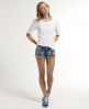Superdry Raw Edge Hotpants Blue