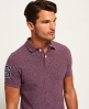 Superdry Classic Embossed Pique Polo Shirt Purple