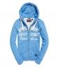 Superdry Sweat à capuche zippé Appliqué Bleu